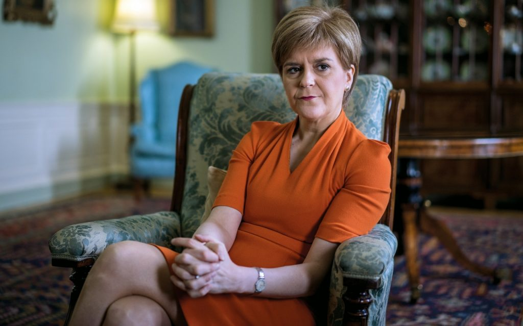 """Nicola Sturgeon Of The Scottish National Party And First Minister Of Scotland Called It The """"biggest Step So Far"""" In Exiting Lockdown."""