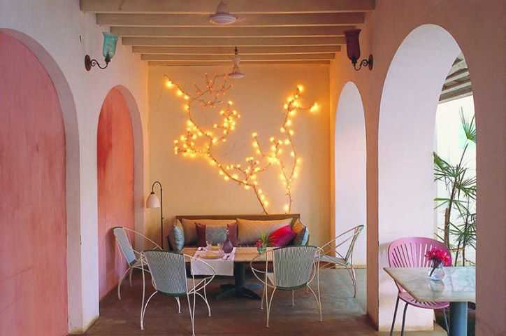 The Salmon Pink Hued La Maison Cafe In Pondicherry Is Emblematic Of The Destination's Art Meets Sea Meets French Culture.